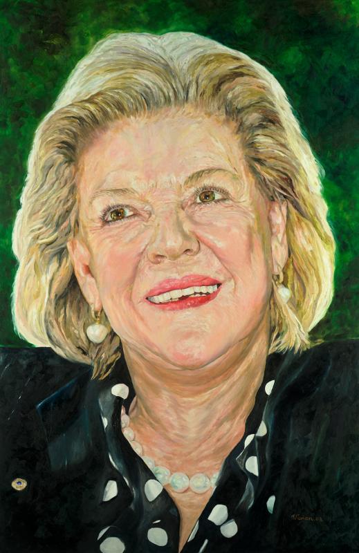 Roslyn Packer Oam Portrait Artist Vivian Falk
